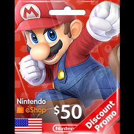 $50.00 Nintendo eShop US Auto Delivery