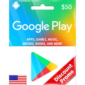Google Play $50 Gift Code US Auto Delivery