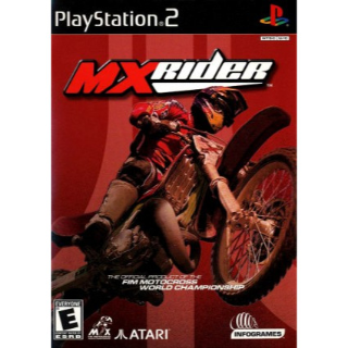 MXrider (Sony PlayStation 2, 2001) MX Rider COMPLETE with case and manual BMX