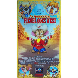An American Tail - Fievel Goes West (VHS, 1992) with original sleeve