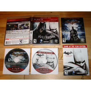 Batman: Arkham Asylum + Arkham City DUAL PACK [PlayStation 3] 2-Disc GOTY double pack