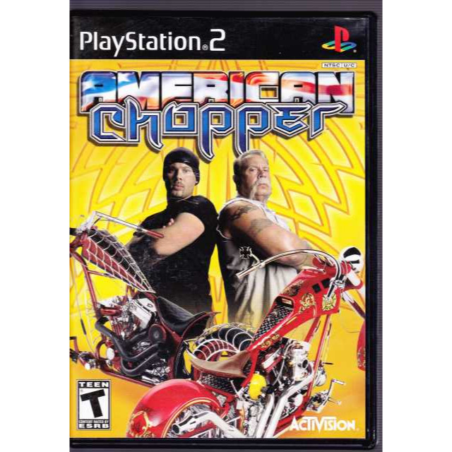 American Chopper (Sony PlayStation 2, 2004) COMPLETE w case & manual motorcycles