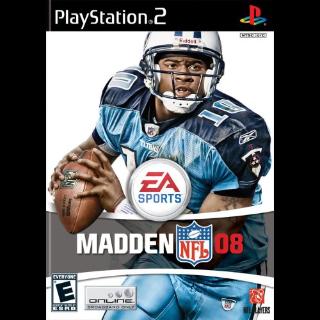 Madden NFL 08 COMPLETE Playstation 2