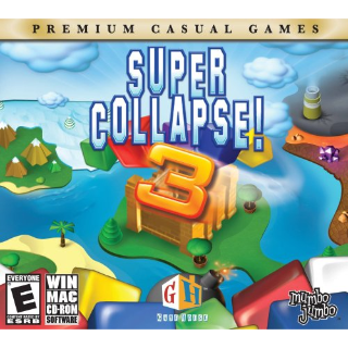 Super Collapse 3 (Windows/Mac, 2006) CD-ROM with jewel case and artwork