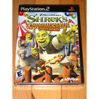 NEW SEALED Shrek's Carnival Craze Party Games (Sony PlayStation 2 2008) unopened