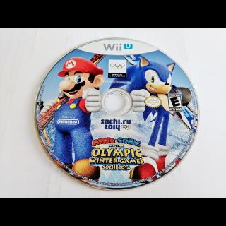 Mario & Sonic at the Sochi 2014 Olympic Games (Nintendo Wii U, 2013) WiiU disc