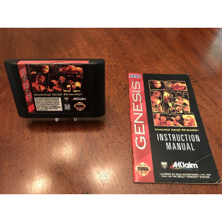 WWF Raw (Sega Genesis, 1994) game cartridge and manual (no case) WWE wrestling