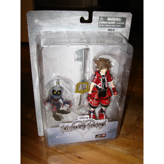NEW Kingdom Hearts Valor Form Sora Figure Gamestop Exclusive red variant+Soldier