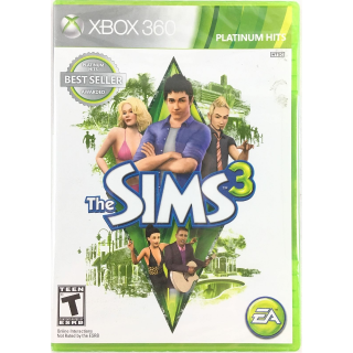NEW SEALED The Sims 3 (Microsoft Xbox 360, 2010) Platinum Hits unopened Y-fold