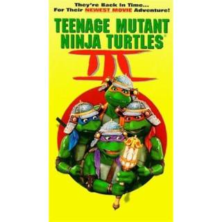 Teenage Mutant Ninja Turtles III (VHS, 1993) with sleeve TMNT