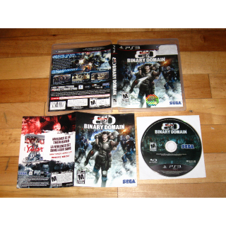 Binary Domain (Sony PlayStation 3, 2012) COMPLETE with case and manual Sega cult