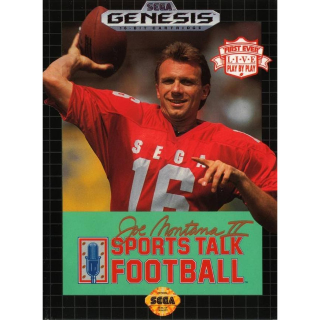 Joe Montana II Sports Talk Football (Sega Genesis 1991) with case and cover art