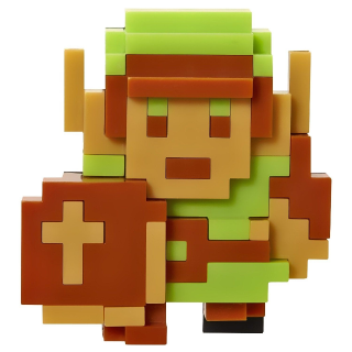 World of Nintendo 8-Bit Link 8-Bit Collection Legend of Zelda NES figure