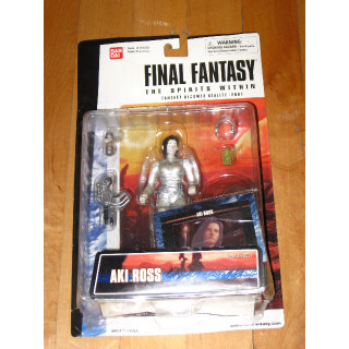 Final Fantasy: The Spirits Within Aki Ross action figure Bandai with card
