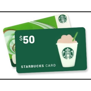 $50.00 Starbucks Gift Card (pin code US UK CA)