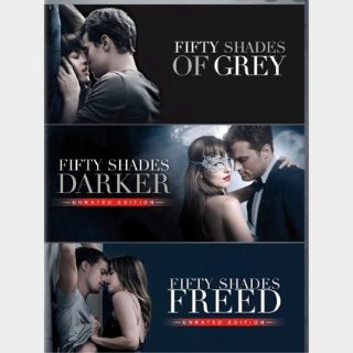 3-Film Bundle Fifty Shades Trilogy (UNRATED) / Vudu