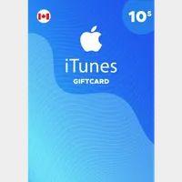 $10.00 CAD iTunes Valid in Canada