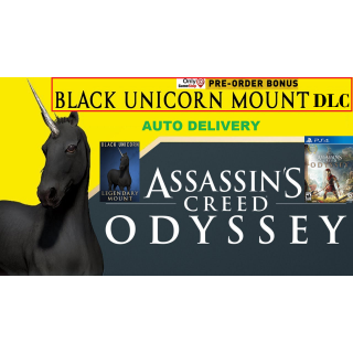 Assassin's Creed Odyssey - Black Unicorn Mount DLC | PS4 | US, Canada | AUTO DELIVERY #1