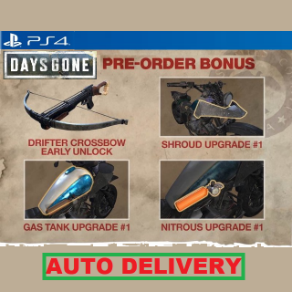 Days Gone Preorder Bonus DLC KEY | PS4 (North America, US) | AUTO DELIVERY #1