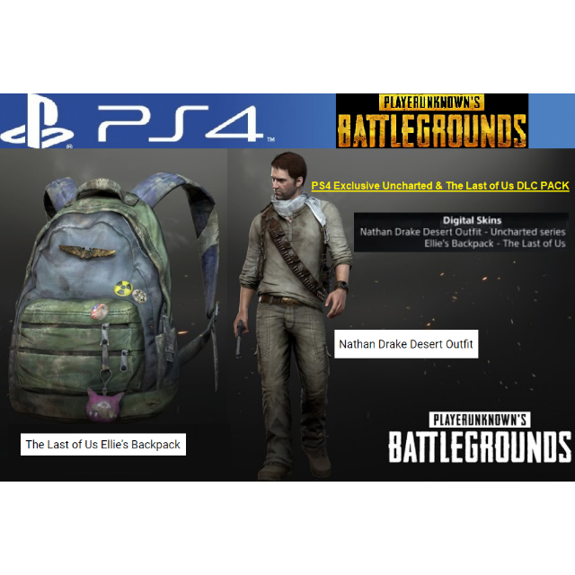 PUBG (PS4) - Uncharted & The Last of Us DLC Pack [PS4 / North