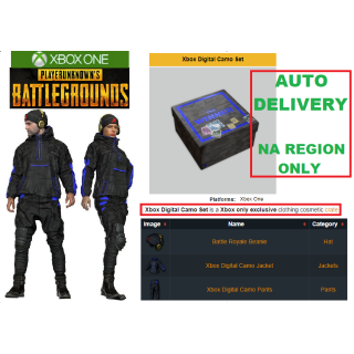 PUBG Xbox Digital Camo Set | XBOX ONE | NA, US ONLY | AUTO DELIVERY #14