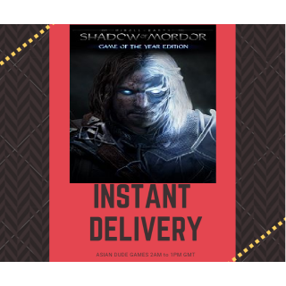 Middleearth Shadow of Mordor Game of the Year Edition STEAM KEY GLOBAL [INSTANT DELIVERY]