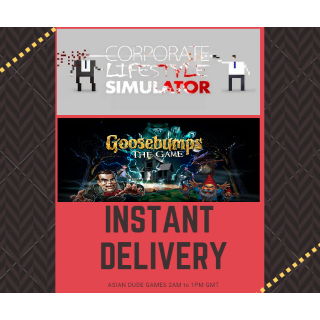 (2 Games) Goosebumps: The Video Game + Corporate Lifestyle Simulator STEAM KEY GLOBAL [INSTANT DELIVERY]