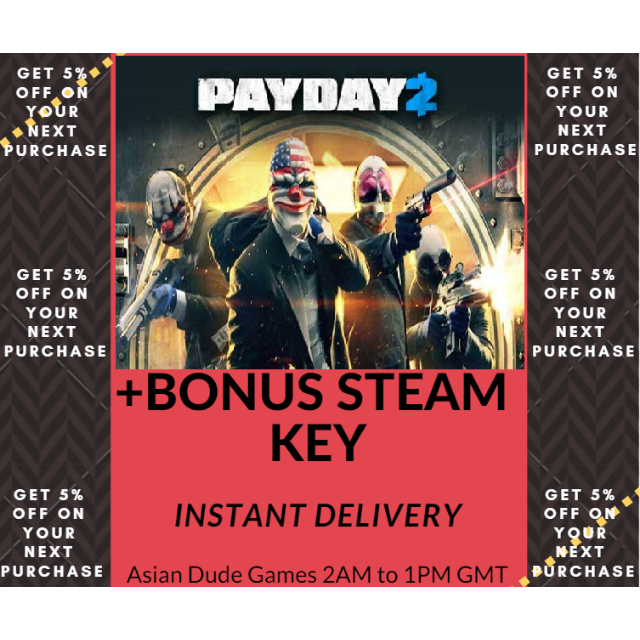 Payday 2 + 2 Bonus Steam Key GLOBAL [INSTANT DELIVERY]