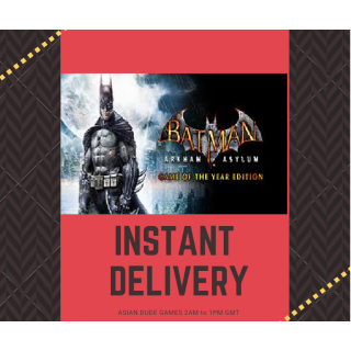 Batman: Arkham Asylum Game of the Year Edition STEAM KEY GLOBAL [INSTANT DELIVERY]