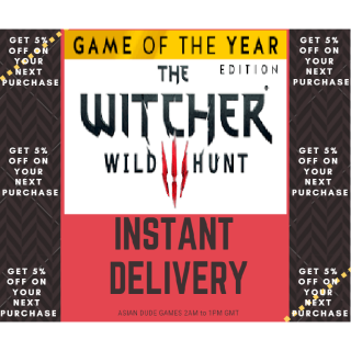 THE WITCHER 3 WILD HUNT GOTY GLOBAL [INSTANT DELIVERY]
