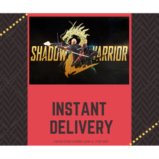 Shadow Warrior 2 STEAM KEY GLOBAL [INSTANT DELIVERY]