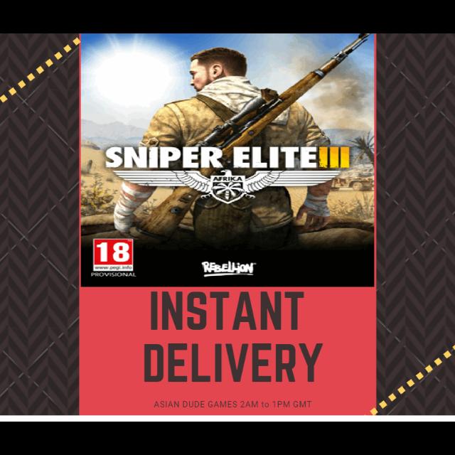 Sniper Elite 3 STEAM KEY GLOBAL [INSTANT DELIVERY]