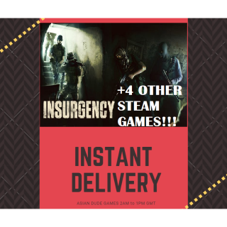 Insurgency + 4 OTHER STEAM GAMES!! STEAM KEY GLOBAL [INSTANT DELIVERY]