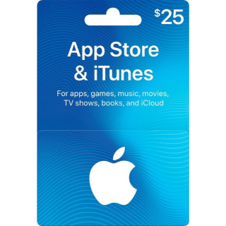 $25.00 USD  instant iTunes Gift Card