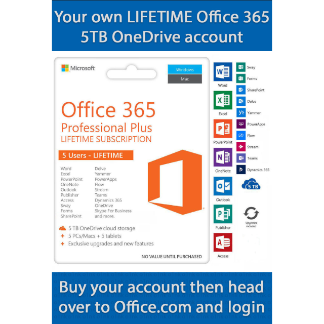 Office365 lifetime license account for 5 device - Other - Gameflip