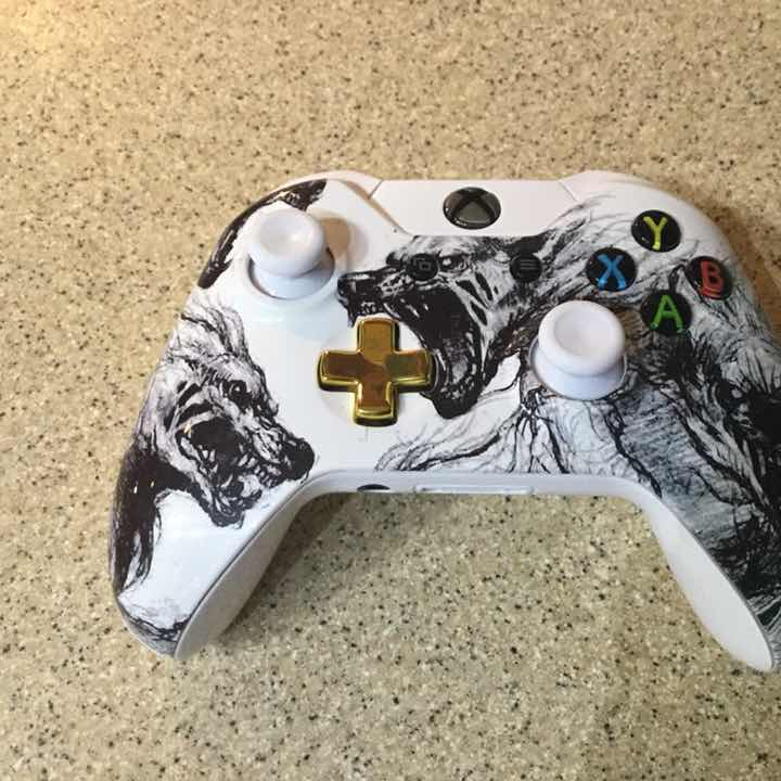 Custom White Wolf Xbox One Controller Controllers Accessories