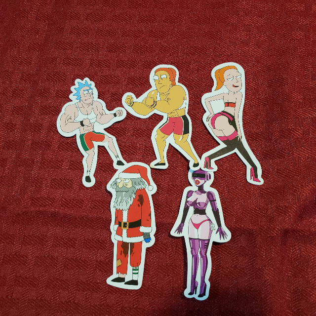 5 Rick and Morty Stickers
