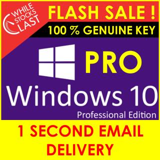 Lifetime Windows 10 Pro Professional Genuine License Key 32/64 BIT 🔑 Instant Delivery 🔑