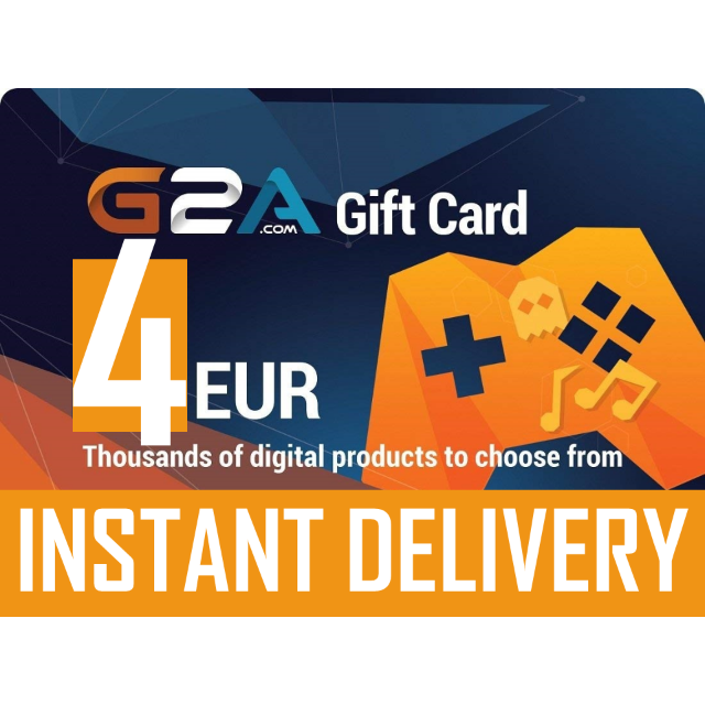 4 EUR G2A Gift Card Key GLOBAL Region Free Instant Delivery