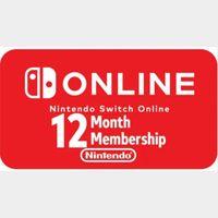 Code | Nintendo Switch Online 12 month Membership