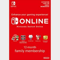 Code | Nintendo Switch Online 12 month Membership Family Group