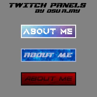 I will create Twitch panels.