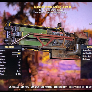 Weapon   BE gatling laser max lvl
