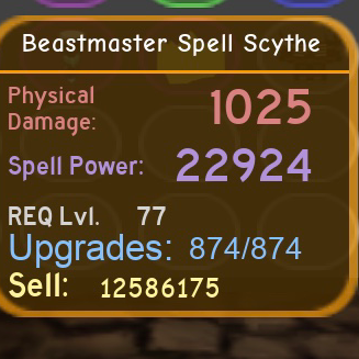Other Dungeon Quest Beastmaster Spell Scythe Fan Hard Store