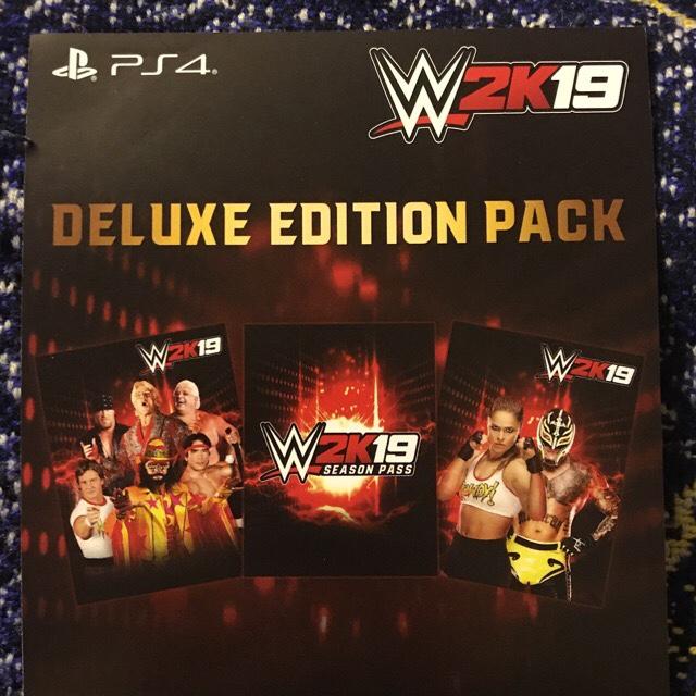 WWE 2k19 Deluxe code - PS4 Games - Gameflip