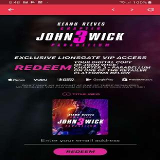 John Wick: Chapter 3 – Parabellum Digital Redemption