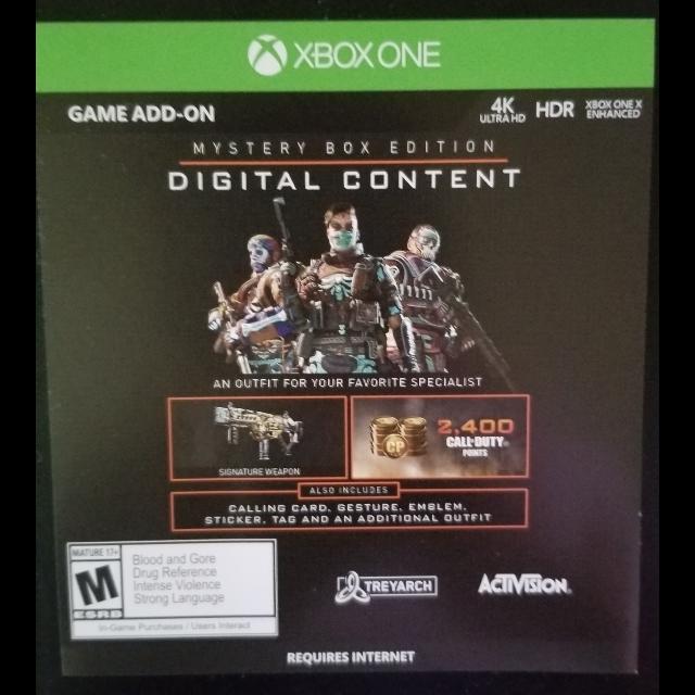 Call Of Duty Black Ops 4 Black Ops Iiii Mystery Box Edition Digital
