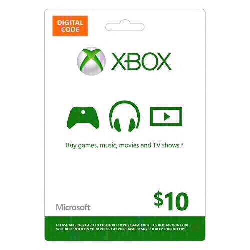 Xbox $10 Gift Card(USA)