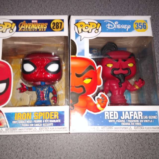 IRON SPIDER AND RED JAFAR POP!