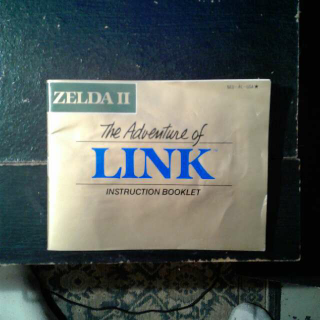 Zelda 2 The Adventure Of Link MANUAL ONLY